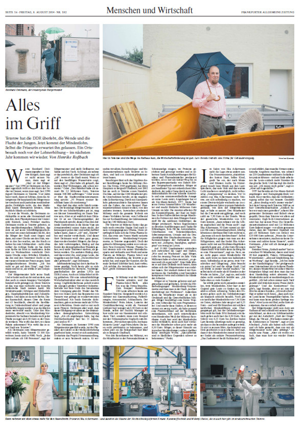 faz Artikel Friseur Salon Harreszeit Teterow